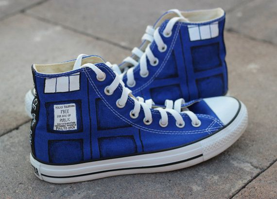 Doctor Who Converse Shoes 5 in 2020 | Doctor who shoes