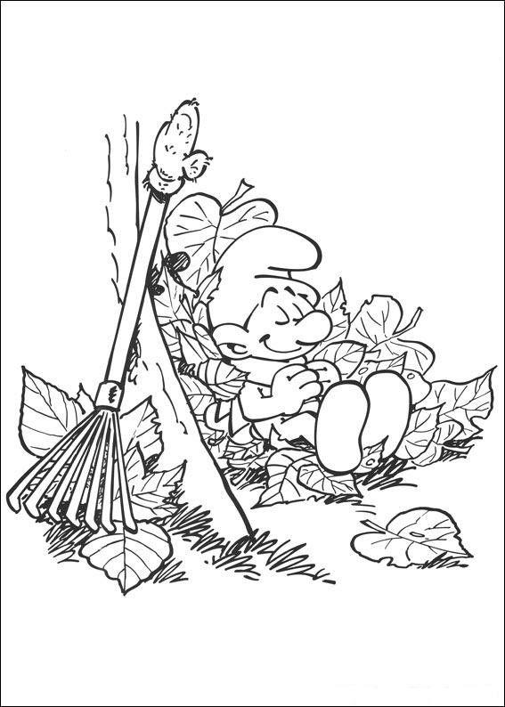Smølferne Tegninger til Farvelægning. Printbare Farvelægning for børn. Tegninger til udskriv og farve nº 19