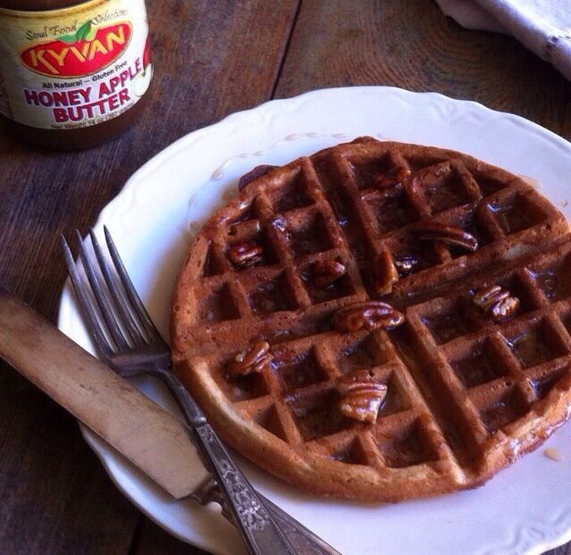 Pie Waffles & Buttered Pecan Syrup made w/KYVAN™Honey Apple Butter ...