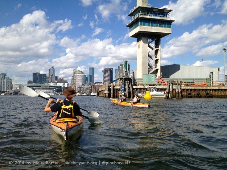 Kayaks in Docklands, Melbourne