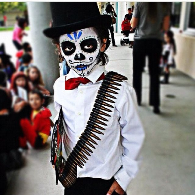 Day of the Dead Halloween kid costume done right!