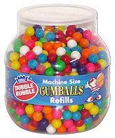 bubble gum refill for machine