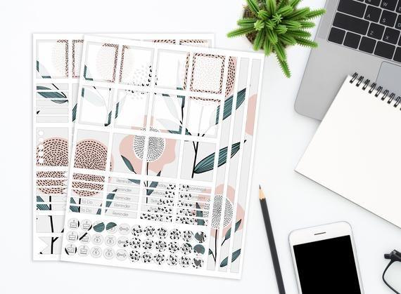 Cactus Garden Planner stickers for Erin Condren Happy Planner A5 Personal etc Planners Bill Due
