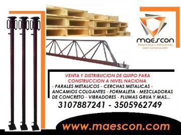 formaleta metalica y en madera para construccion - Categoria: Avisos Clasificados Gratis  Avisos Clasificados Gratis de Compra Venta en ColombiaSOMOS FABRICANTES DE EQUIPO PARA CONSTRUCCION, HACEMOS DESPACHOS A NIVEL NACIONAL CONTANDO CON LOS MEJORES PRECIOS EN EL MERCADO. 3107887241 3505962749. FORMALETA EN MADERA DE .70 X 1.40 M FORMALETA METALICA PARA MUROS Y COLUMNAS PARALES METALICOS NUEVOS Y USADOS CERCHAS METALICAS NUEVAS Y USADAS ANDAMIOS COLGANTES ANDAMIOS TUBULARES DE 1.50 X 1.50 M…