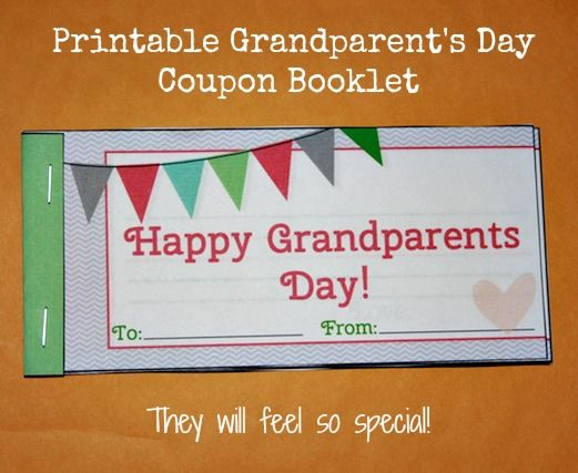 Homemade Grandparents Day Gift Idea Printable