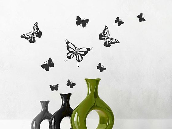 Stunning Dekorative Schmetterlinge buntes Set