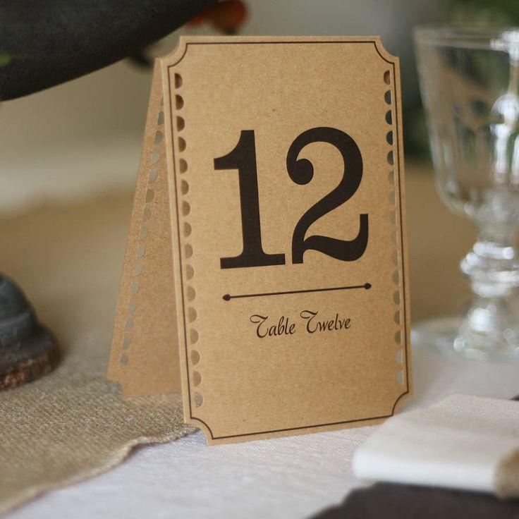 Número de mesa para boda ecológica o campestre