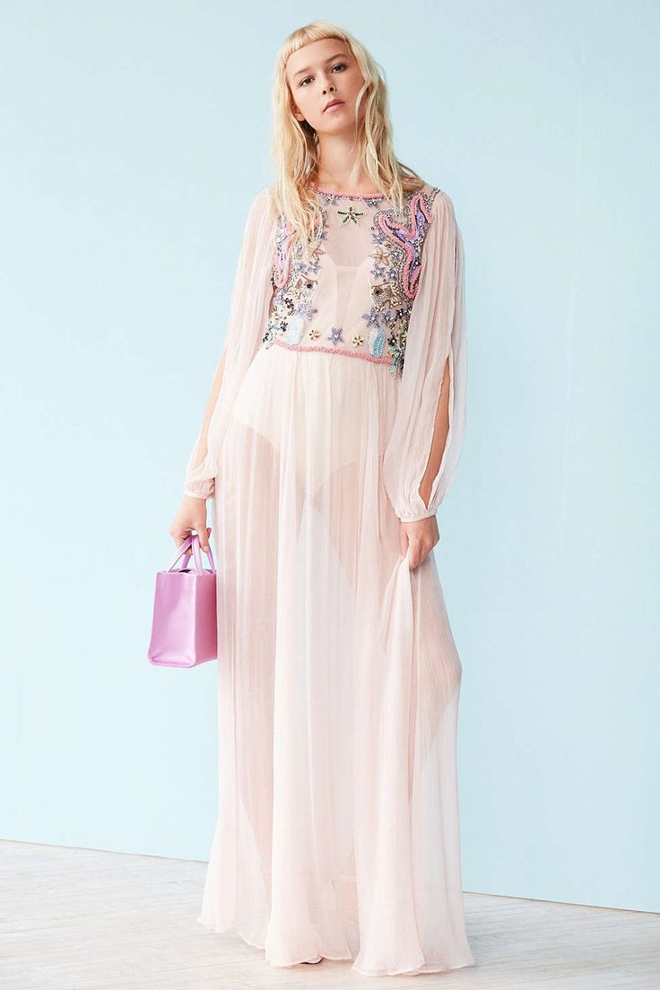 Kimchi Blue Wonderland Embellished Maxi Dress - Urban Outfitters