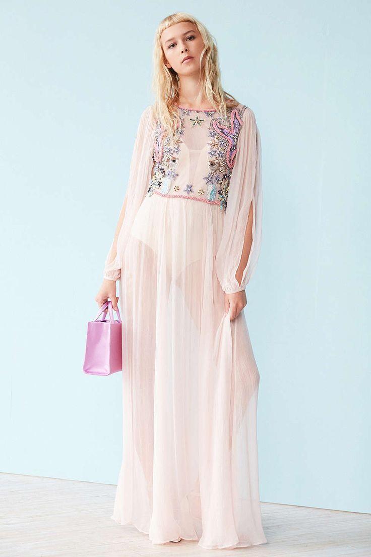 Kimchi Blue Wonderland Embellished Maxi Dress - Urban Outfitters