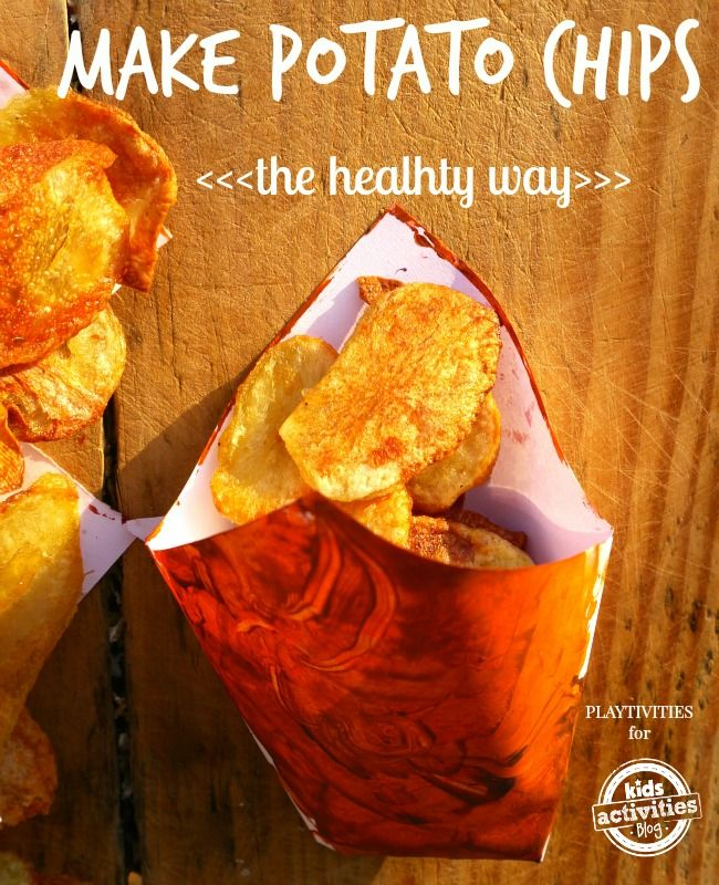 How to make delicious homemade potato chips that are actually healthy.