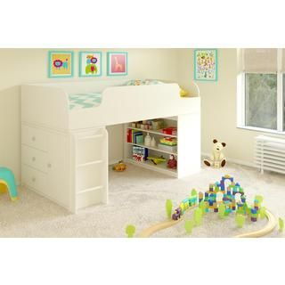 Donco Kids Twin-size Tent Loft Bed with Slide | Overstock.com Shopping - The Best Deals on Kids' Beds