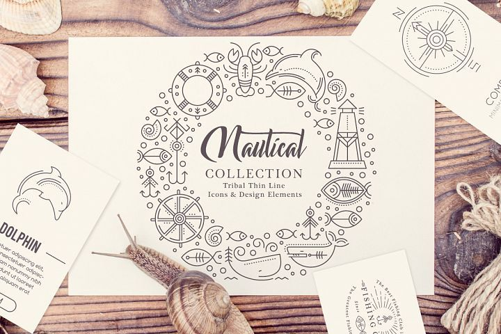 Nautical Collection  - Free Design of The Week from DesignBundles.net