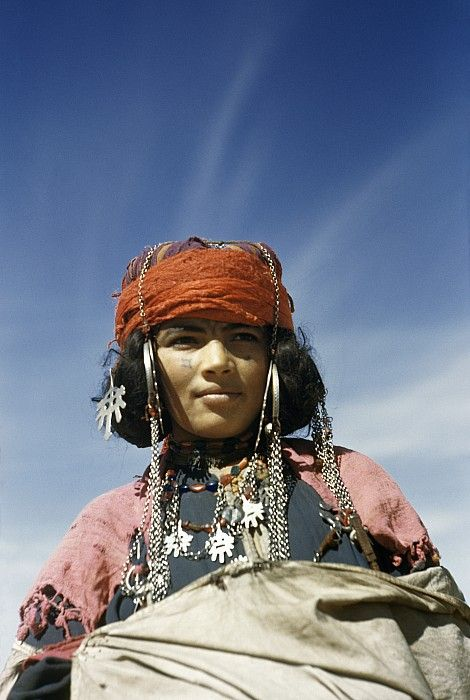 Portrait Of A Nomadic North African is a photograph by Maynard Owen Williams