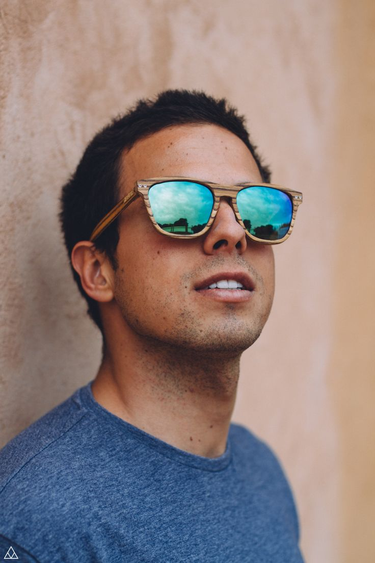 Gafas de Madera Feler - Regular Zebrano lente Verde