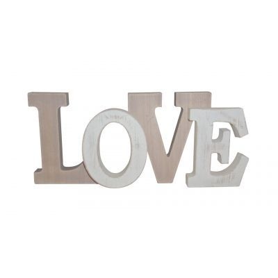 Wooden wood love sign freestanding or hanging