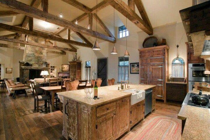 Rustic Open Kitchen Designs