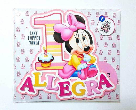 Guarda questo articolo nel mio negozio Etsy https://www.etsy.com/it/listing/565085484/baby-minnie-mouse-cake-topper-birthday