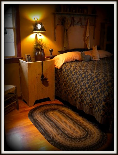 Primitive Bedroom~ Primitives The Beauty Of Looking Old And Worn