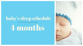 Baby's sleep schedule at four months {Bonne Nuit Baby Sleep Consulting}