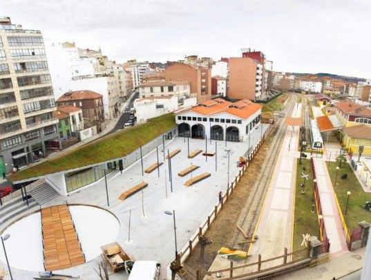 Spanish Train Station Renovated Into A Green Roofed Youth