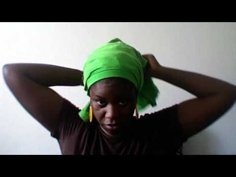 How To Tie a T-shirt Head Wrap - YouTube This is a really cool idea.  And you don't even have to cut or destroy the T-shirt in the process.