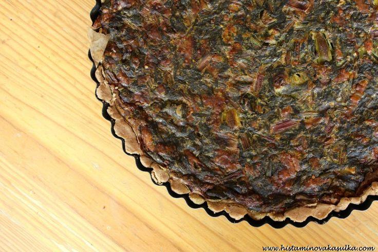 Sýrový quiche s řepnými listy