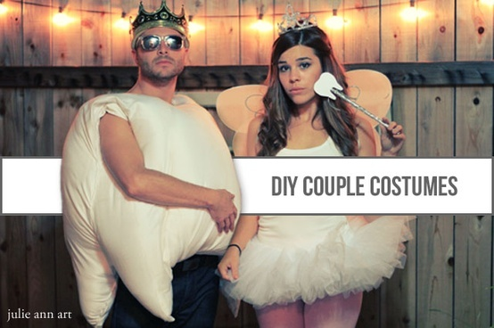 Halloween- Tooth and Tooth Fairy DIY couple costume