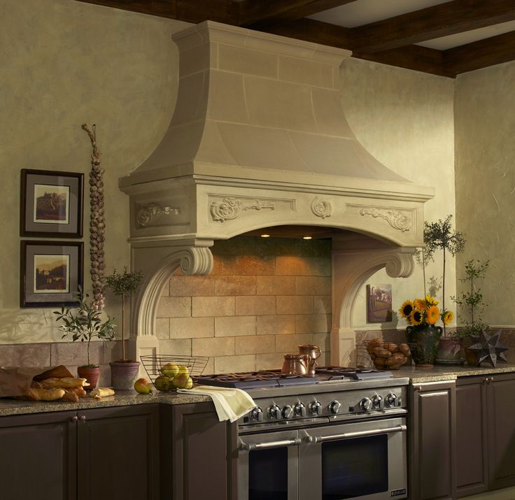 Stone Range Hoods ~ Best images about cast stone kitchen range hoods on