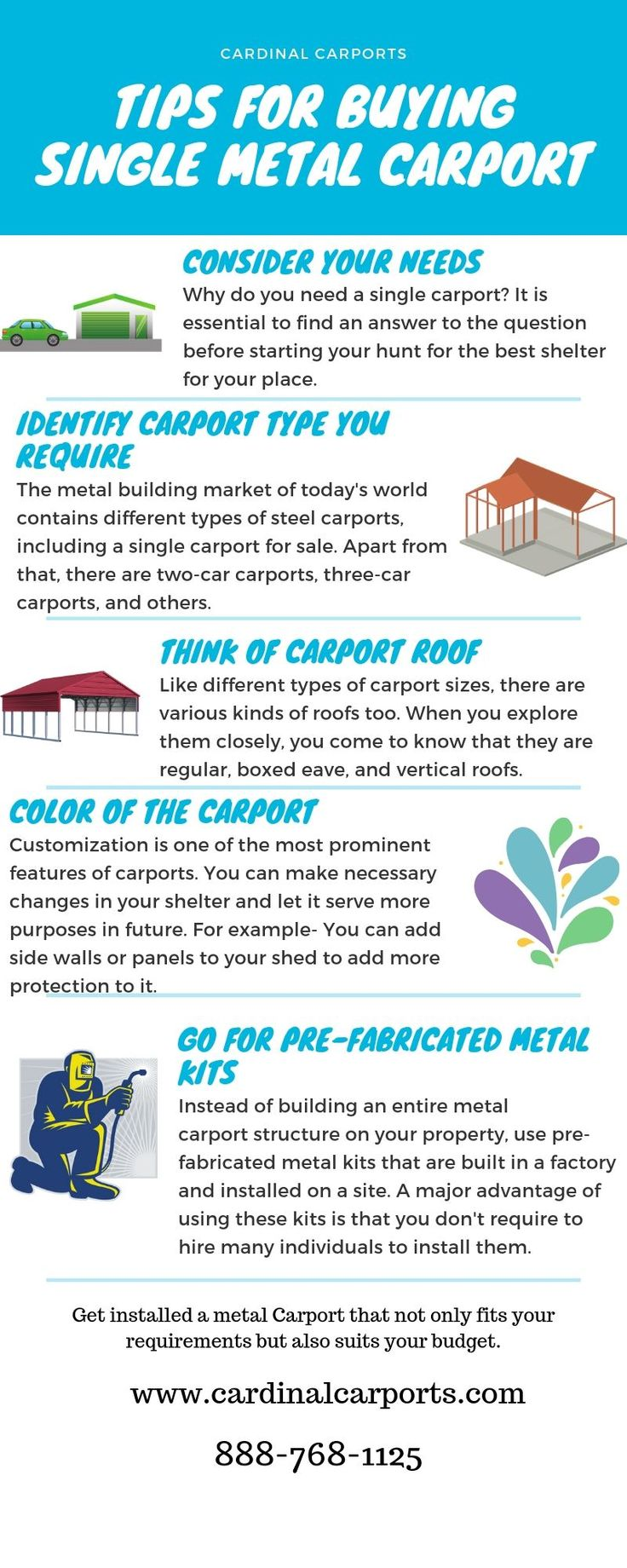 In the market, there are many kinds of carports. They