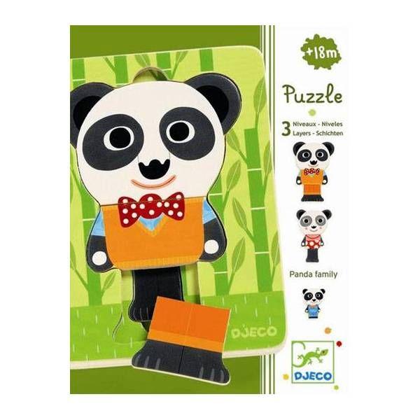 Djeco Puzzle 3 warstwowe Rodzina pand (143455)... - Szukasz tego produktu? Sprawdź - najczęściej to właśnie Hulahop.pl ma najniższą cenę w Polsce.