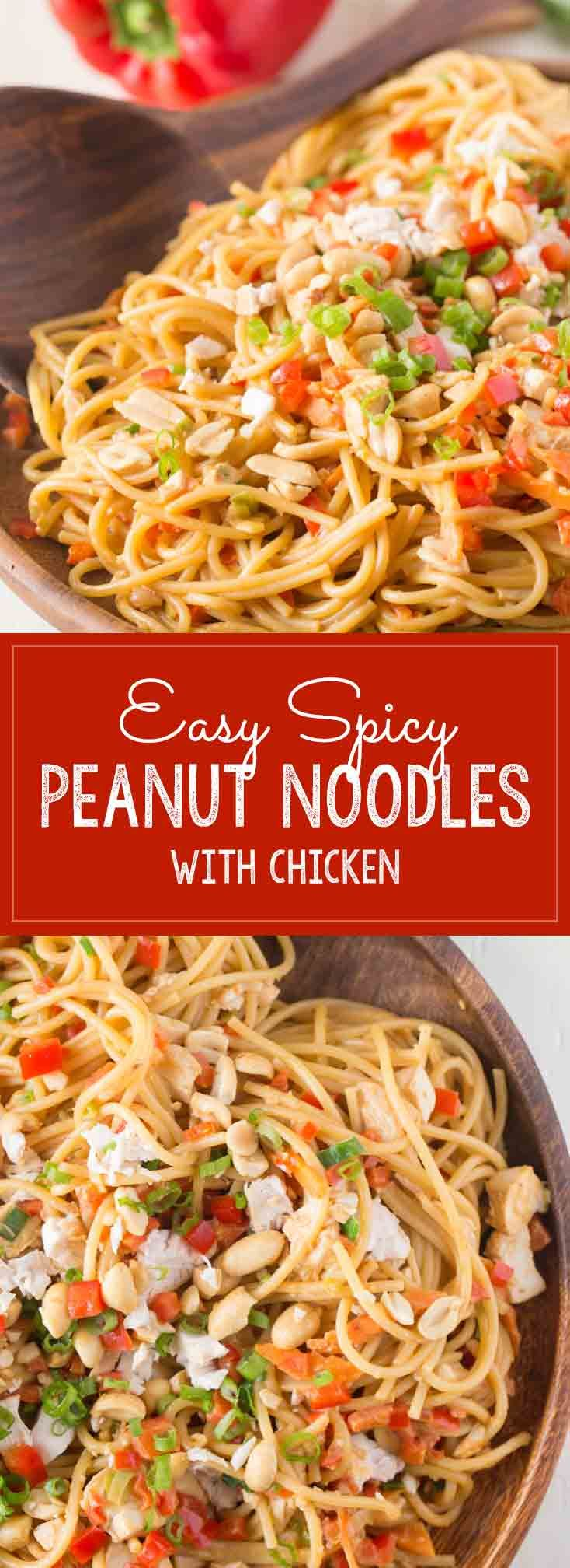 Some pantry staples, a few fresh veggies and the help of a rotisserie chicken make this quick and easy dinner a huge hit!