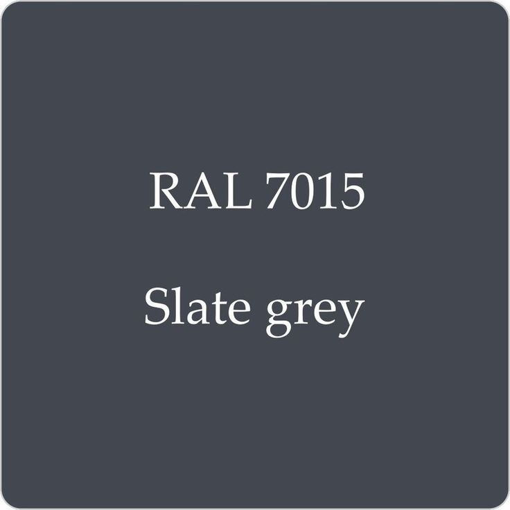 RAL 7015 - Slate Grey (Option 1 for Barn walls, windows, doors) Consider slate roof finish?