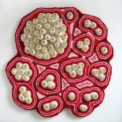 Center, by Emily BarlettaArtists, Art Sculpture, Emily Barletta, Crochet Sculpture, Crochet Art, Textiles Art, Sculpture Crochet, Fiber Art, Crafts