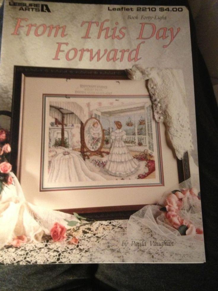 Paula Vaughan From This Day Forward Bride Wedding Cross Stitch Pattern 48 Rare #PaulaVaughan