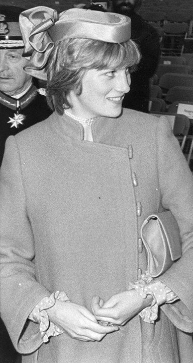"Princess Diana in Bridgend 1982, with thanks to ""Remembering Bridgend"""