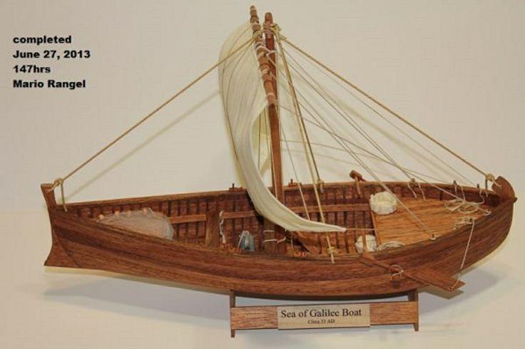SEA OF GALILEE, ISRAEL - Model of a first century Galilean fishing boat