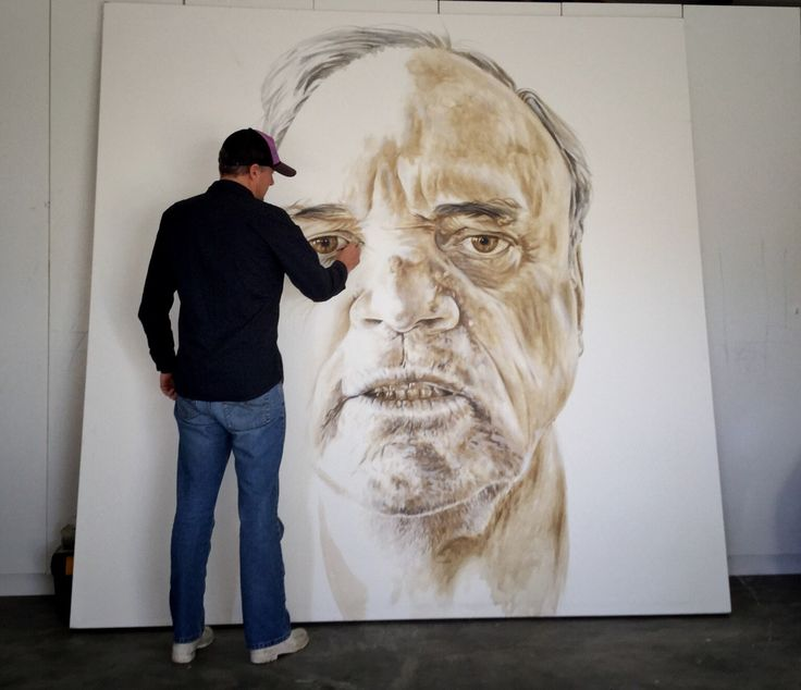 Painting work in progress by Murray Ralfe   February 26 2016 at 02:09AM