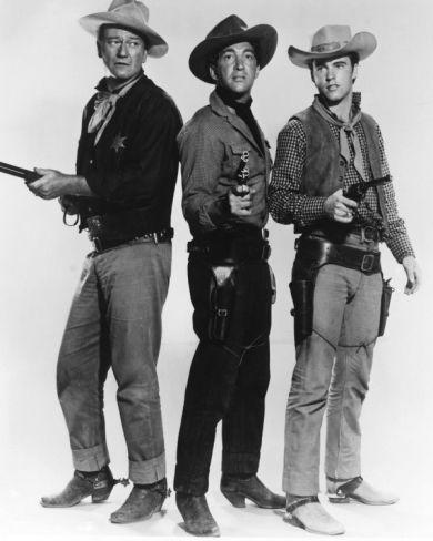 Rio Bravo staring John Wayne, Dean Martin, Ricky Nelson, and Angie Dickson