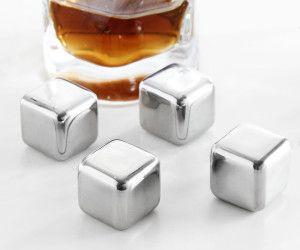 Metalowe kostki lodu