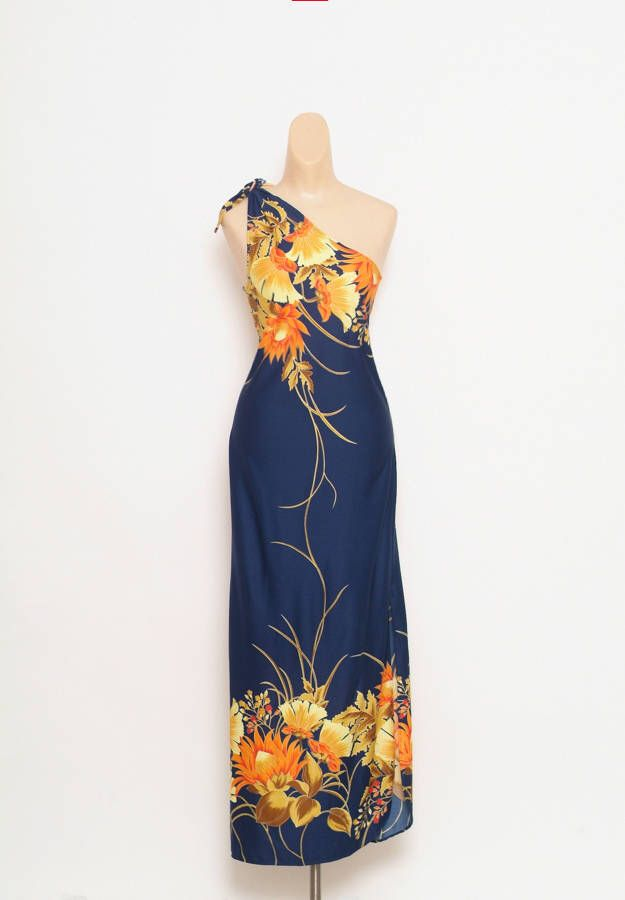 Excited to share the latest addition to my #etsy shop: Vintage 80s dress - Vintage Dress - Vintage - Hawaii dress - dress - Party dress - Floral dress - Maxi dress - 70s Dress - 80s dress Dresser #clothing #women #dress #blue #hawaiiandress