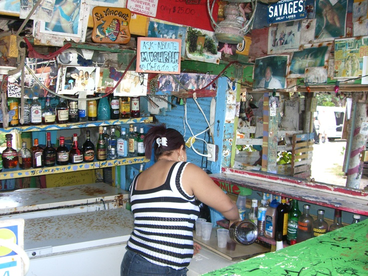 """Have a famous """"drink"""" at the Bomba Shack - Tortola / British Virgin Islands"""