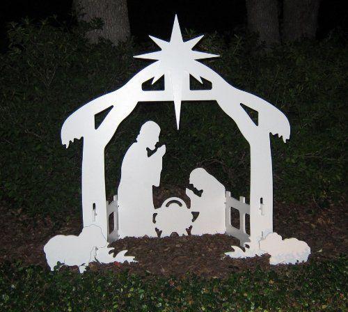Christmas Outdoor Nativity Set - Yard Nativity Scene by Teak Isle, http://www.amazon.com/dp/B00496GZ4G/ref=cm_sw_r_pi_dp_iFj1qb002AZ1V