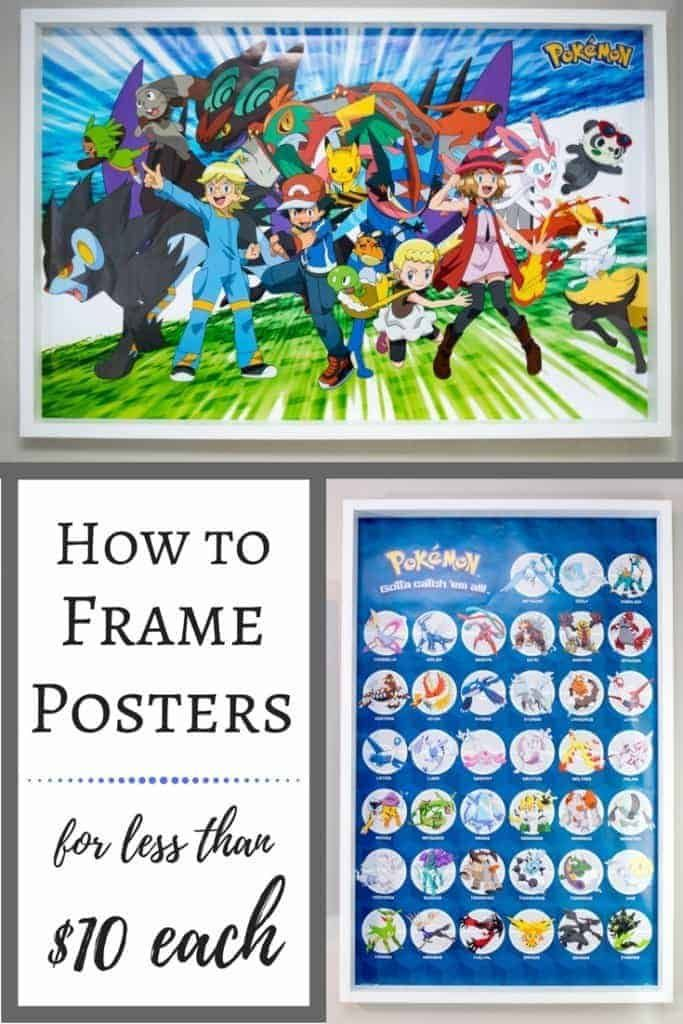 How To Frame Posters For Less Than 10 Each Diy Poster Frame How