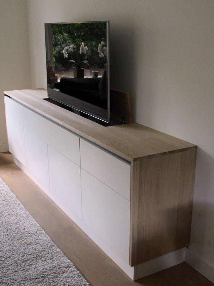 les 25 meilleures id es de la cat gorie support tv cach. Black Bedroom Furniture Sets. Home Design Ideas