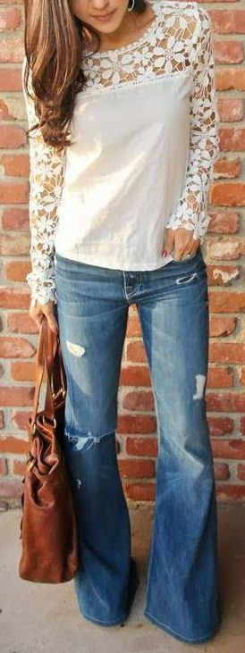 Not sure about the top, but love the jeans!