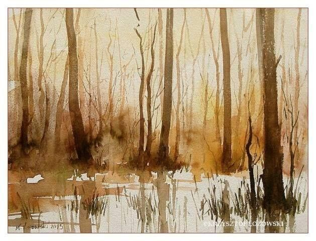 Autumn, 40x30cm, watercolour, for sale