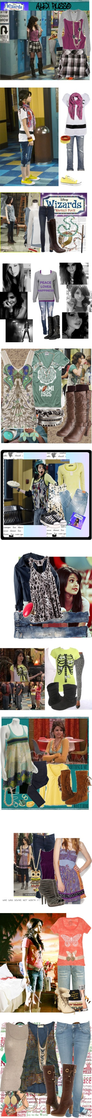 """Dress Like Alex Russo"" by falling4fashi0n ❤ liked on Polyvore"