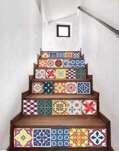 Avalon Vinilos Decorativos Escaleras Mandalas - $ 520,00