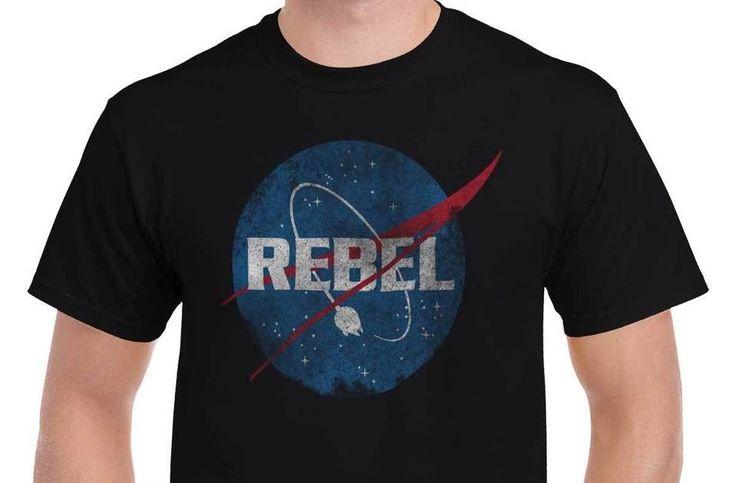 Rebel NASA Space Yoda T Shirt Tee Star Wars Millennium Falcon T-Shirt Top