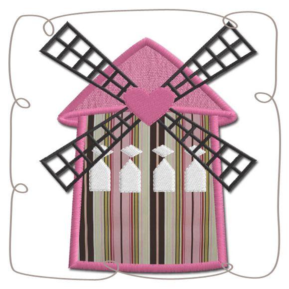 Paris Moulin Rouge Applique Machine Embroidery Design Pattern-INSTANT DOWNLOAD